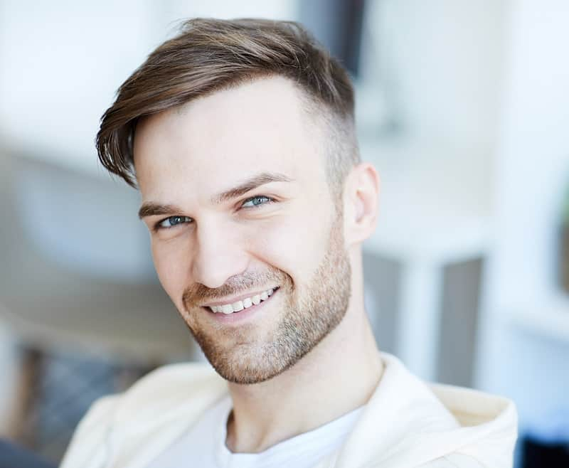 side swept hair for men with square face